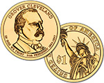 Presidential $1 Coin: Grover Cleveland.